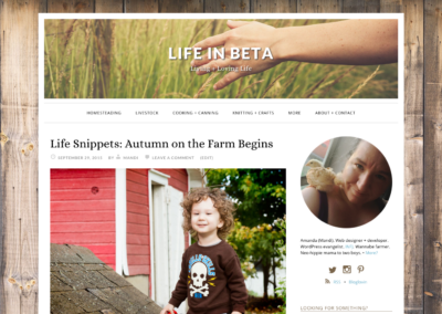 LifeInBeta.com: Custom WordPress design and development