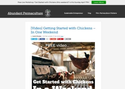 AbundantPermaculture.com: Custom WordPress design & development using the Genesis framework